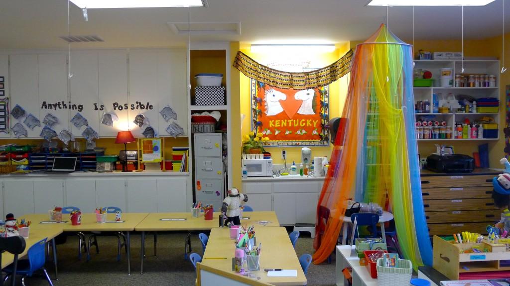 A kindergarten classroom