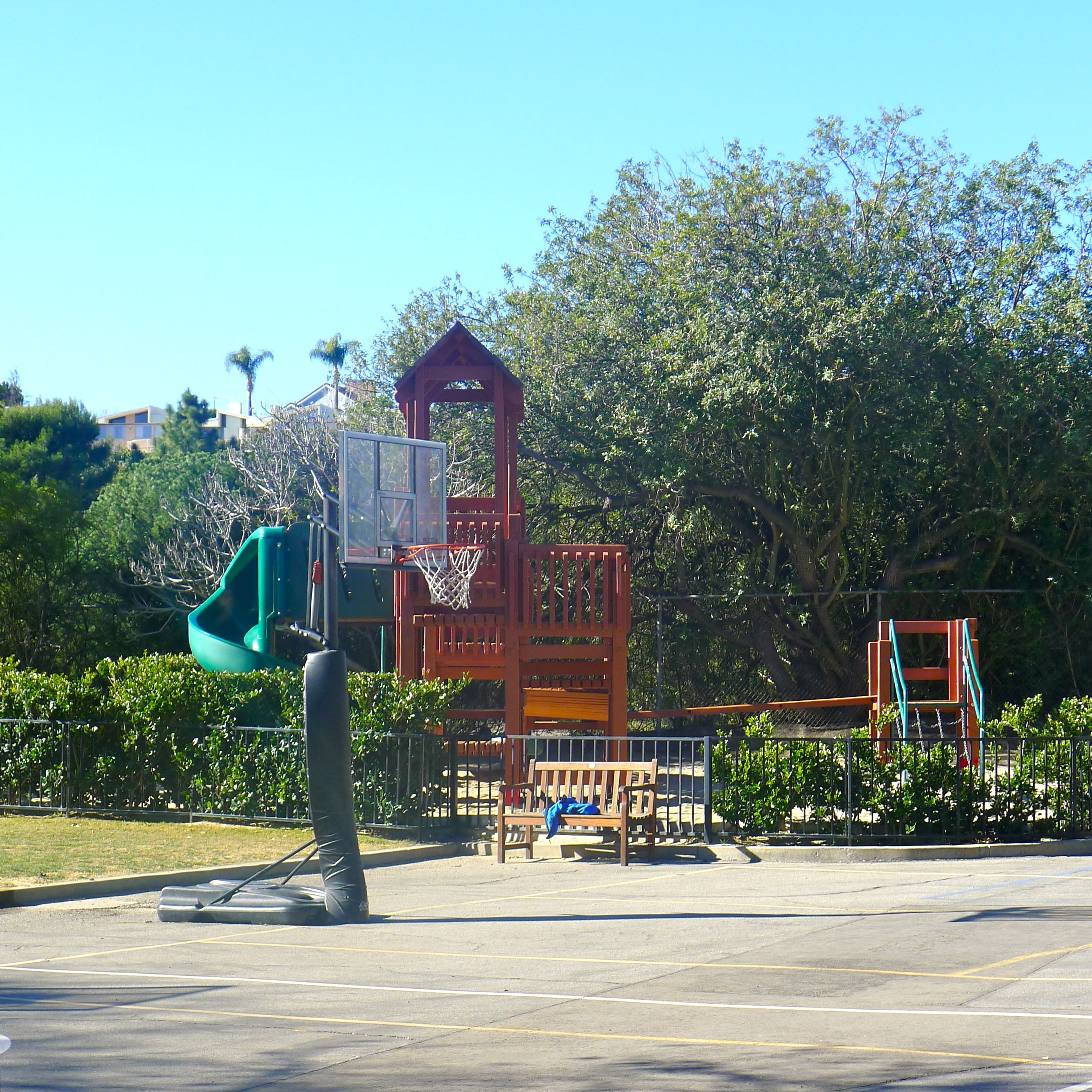 A view of the outdoor play area
