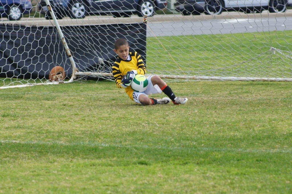 A rare chance to play goalie and loving it! FCLA Club Team in San Diego