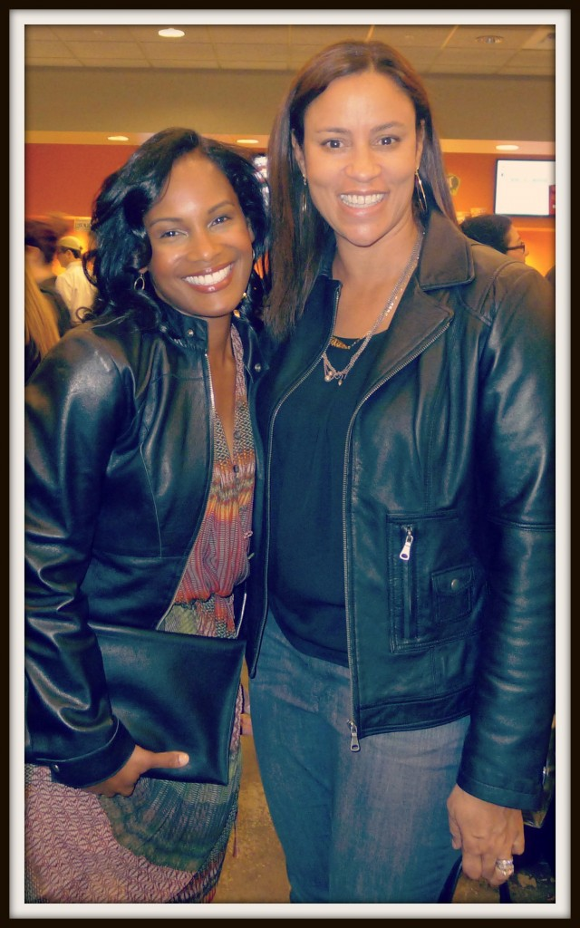 "With Robinne Lee, co-star of the romantic comedy, ""Miss Dial"" at L.A. screening"