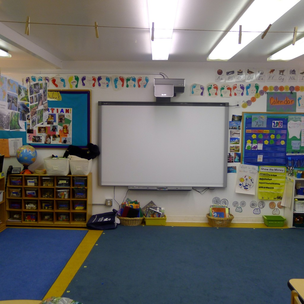 The kindergarten classroom