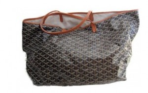This Goyard tote bag will be seen at lots of private schools around town.