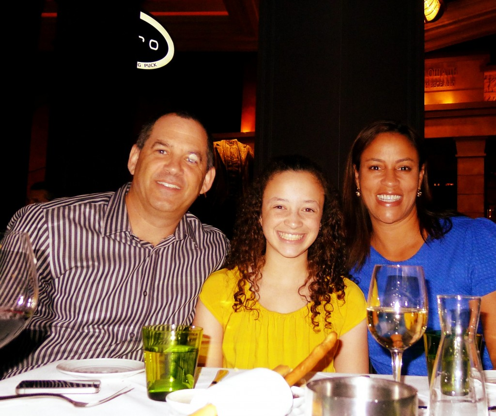 At Lupo, Las Vegas to celebrate my daughter's 13th birthday!