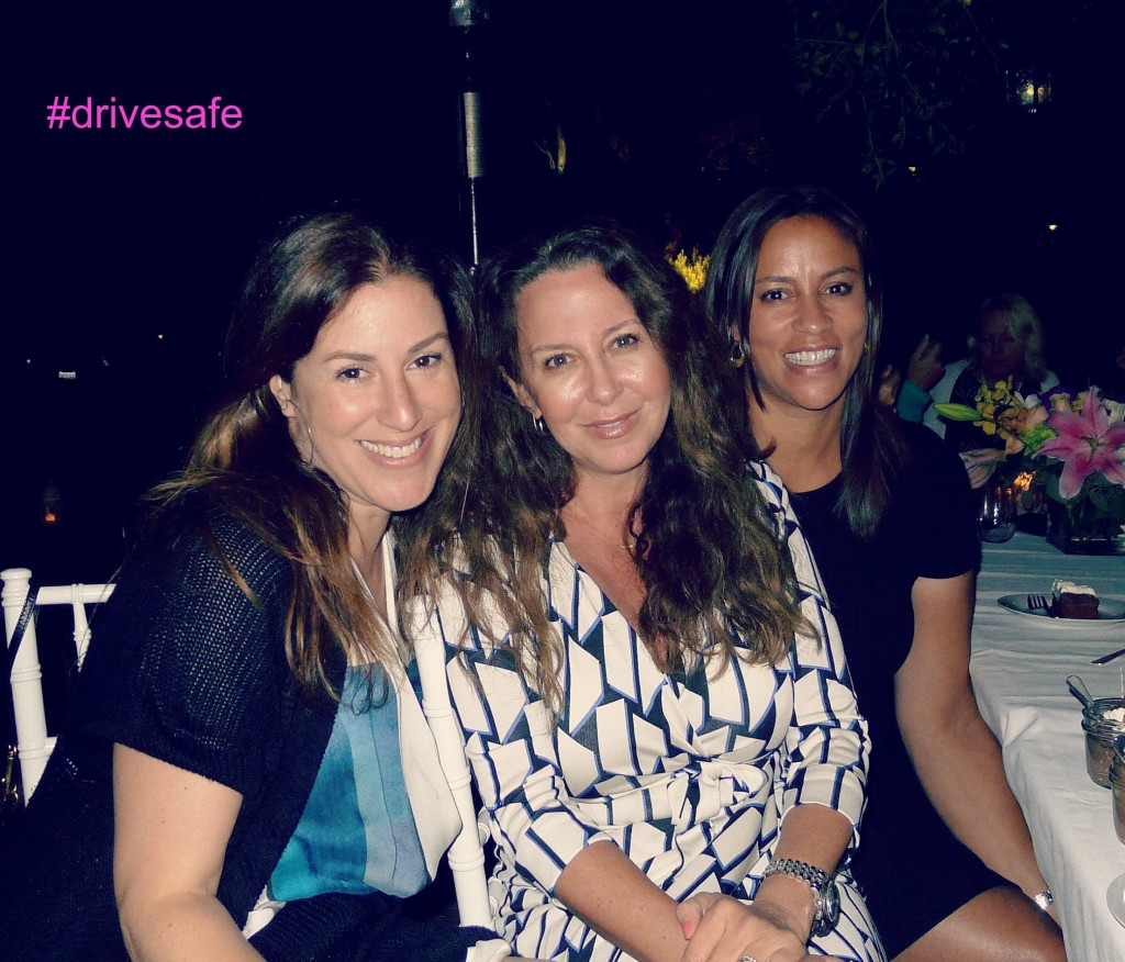Dinner party for Spint OBD2 Device. #DriveSafe. With Sarah Maizes and Jessica Gottlieb (host) in Malibu