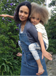 Love this apron by Joe's Jeans for Edible Gardens LA. Worn by Thandi Newton