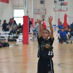 My son at the line. Open Gym Tournament, Anaheim.