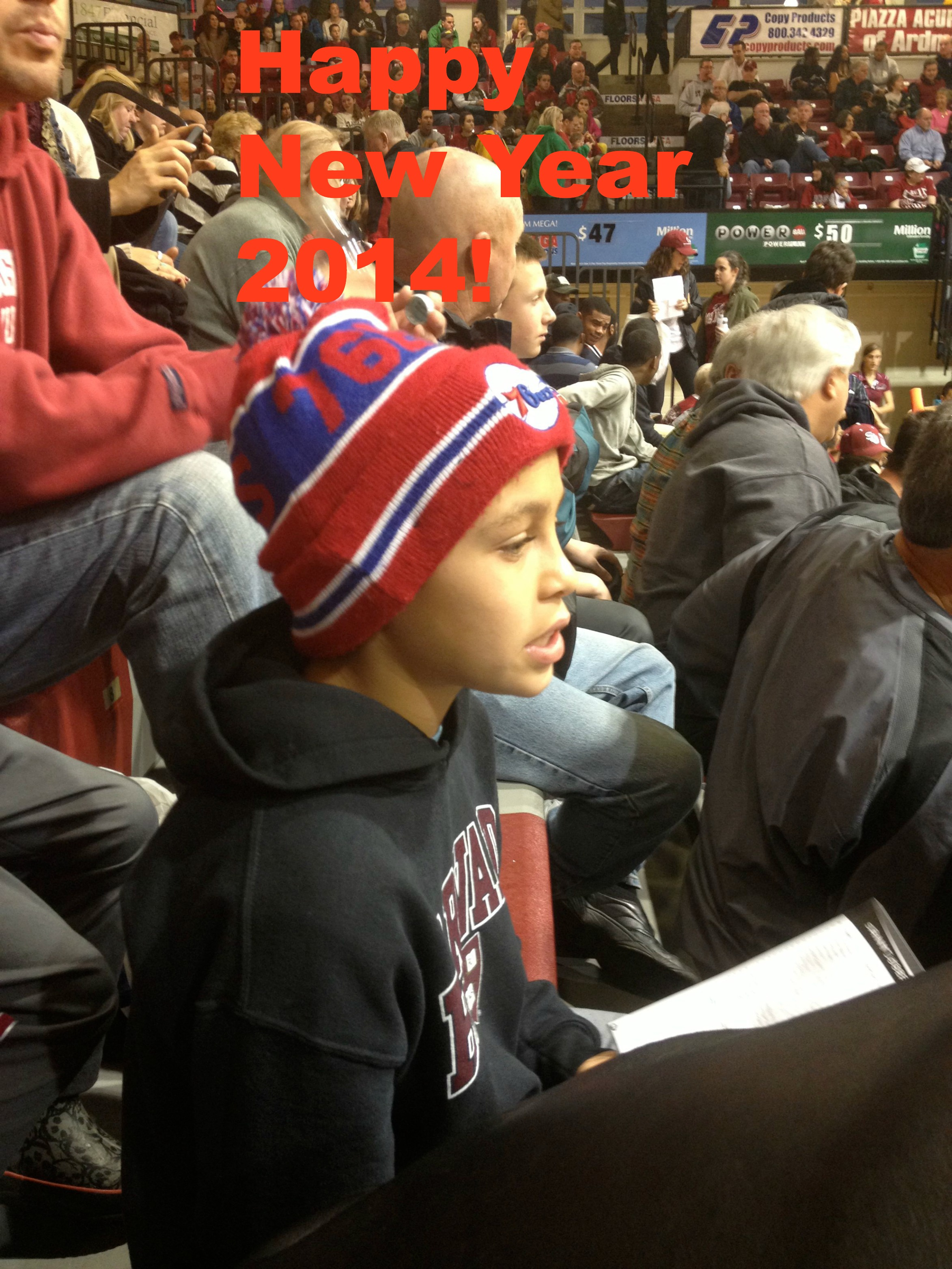 My son at St. Josephs v. Boston U. basketball game