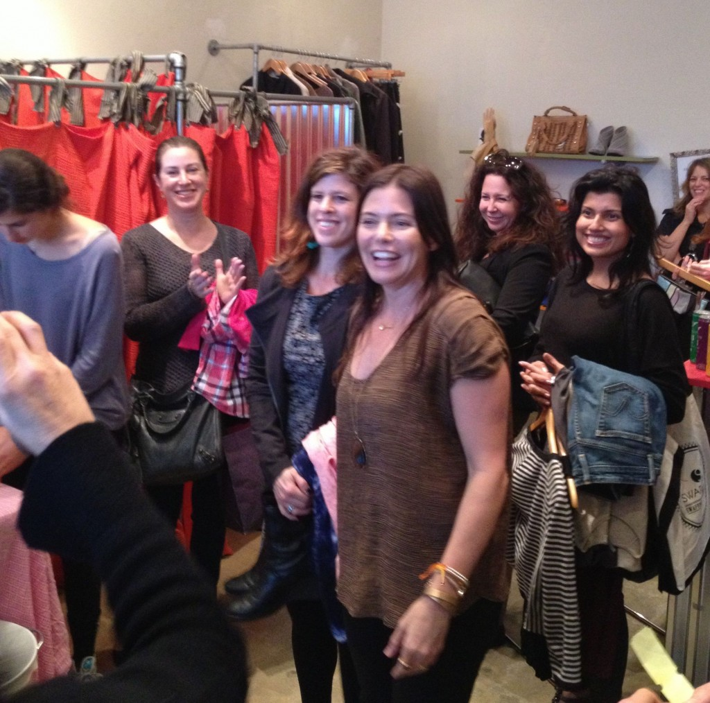 @RachelLSarnoff (MommyGreenest.com) giving us the scoop on shopping and swapping at Give+Take.