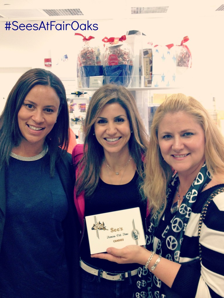 An entire See's Candies store to ourselves! At launch of the new S. Pasadena location on Fair Oaks. Christina Simon, Jill Simonian (The FAB mom and event host) and Candi Schreuders (Stratford School.)