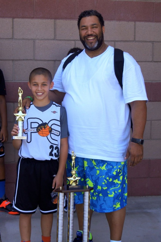 My son and Coach Freddy (Pacific Elite). They'll ride or die for each other.
