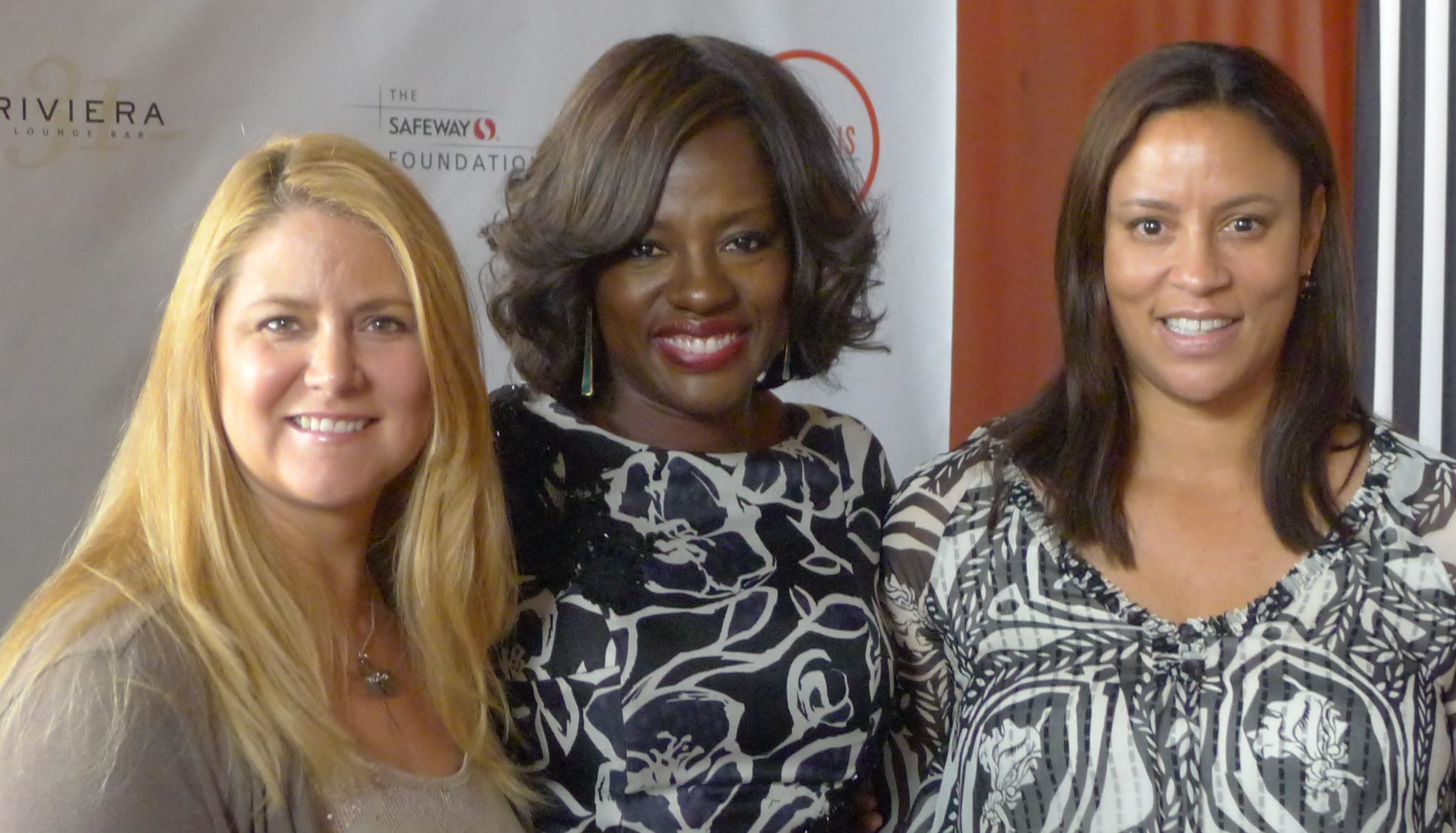 Meeting Viola Davis. Yes, I was nervous! With my friend Candi Schreuders.