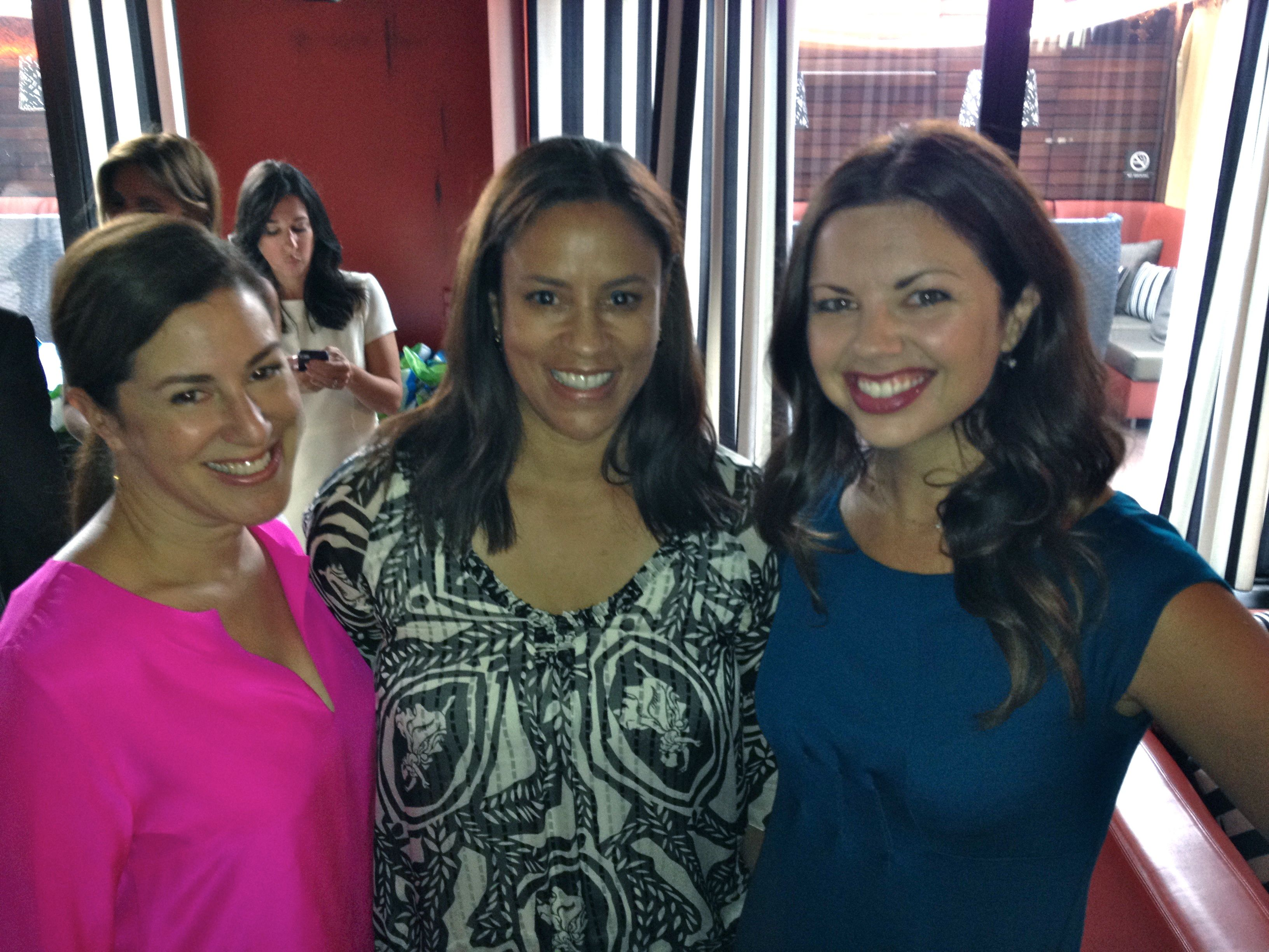 With some of my favorite writers/social media ladies, Sarah Maizes and Ashley Faucet at the event. This is social media at its best, truly.