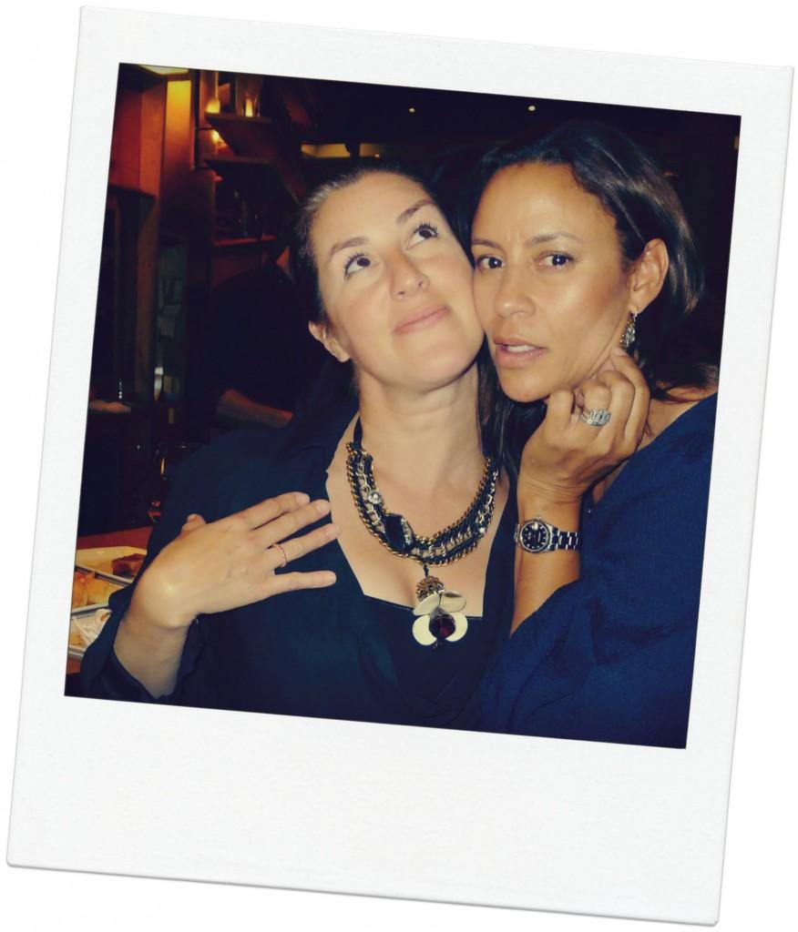 Striking a pose! Christina Simon and Sarah Maizes . Sarah makes any event fun.
