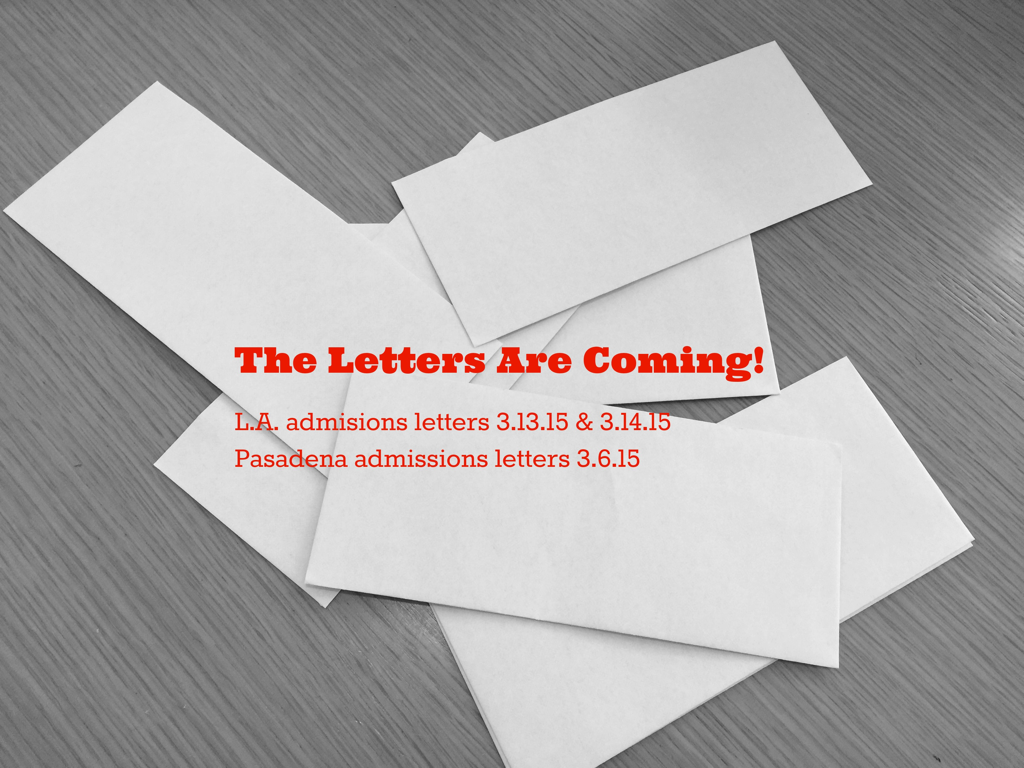 The Letters Are Coming L.A