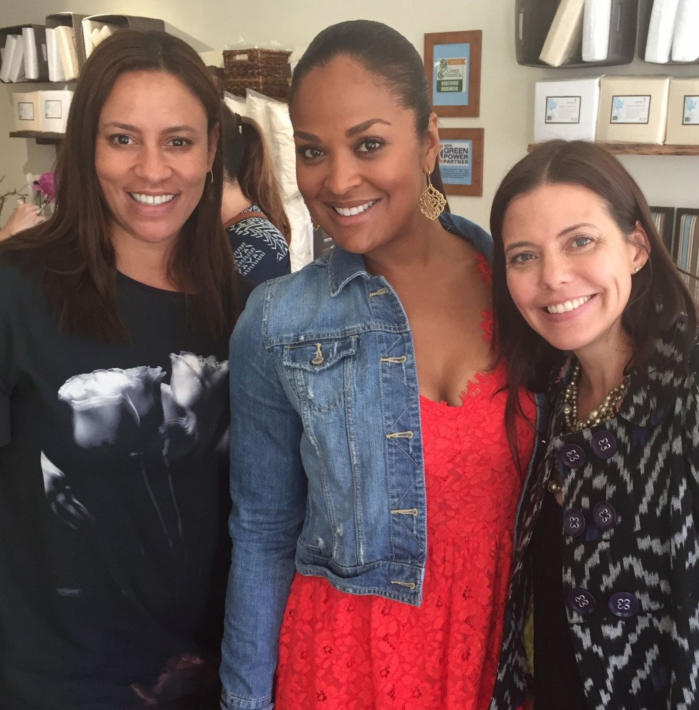 Such a fun event! At Mommy Greenest's book launch with Laila Ali and Rachel Sarnoff at Naturepedic.