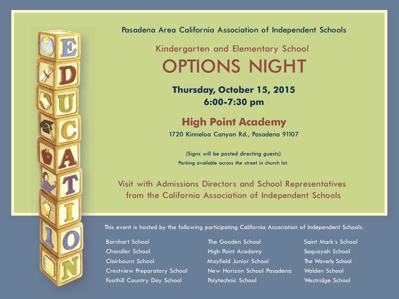 Pasadena Area Independent Schools 2016