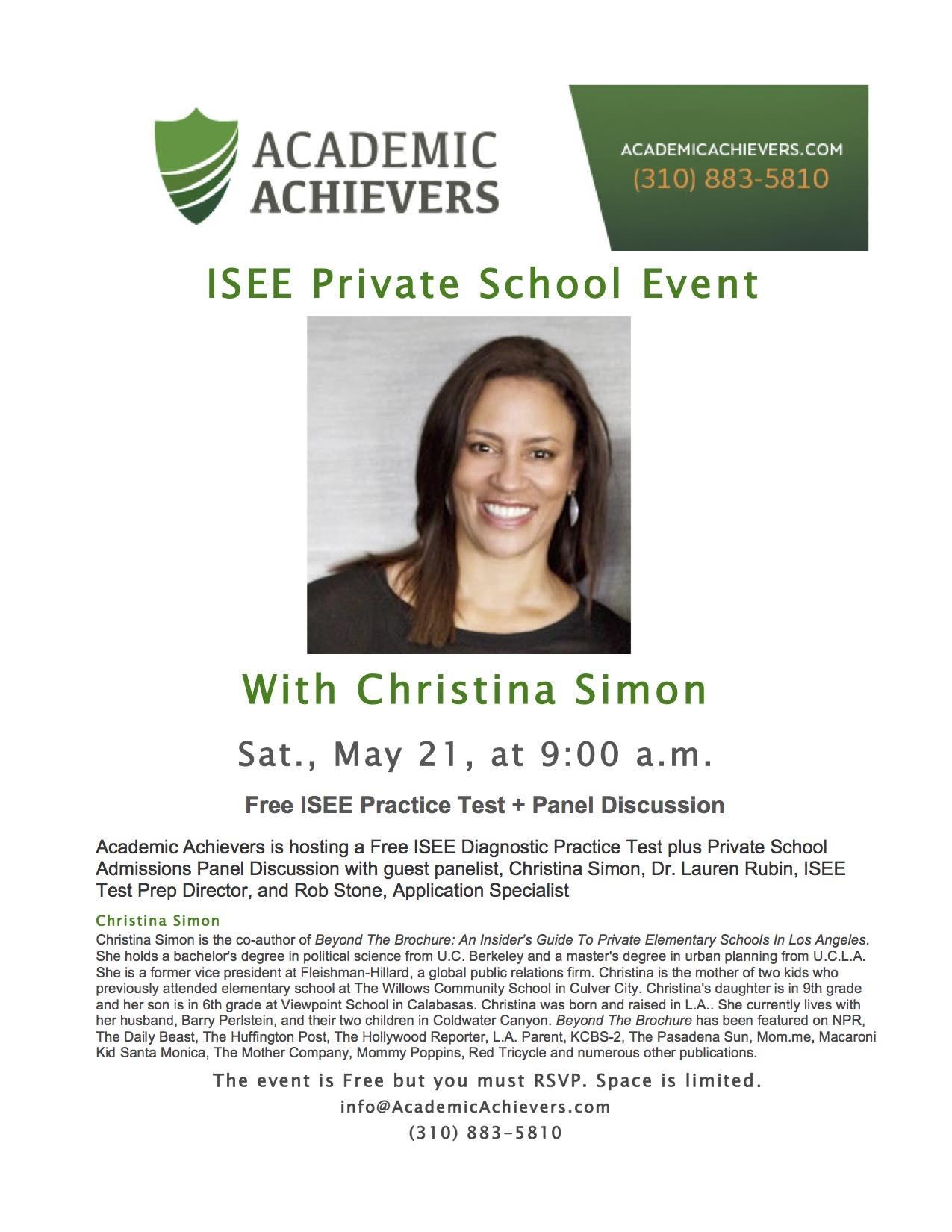 ISEE Event FlyerAA2