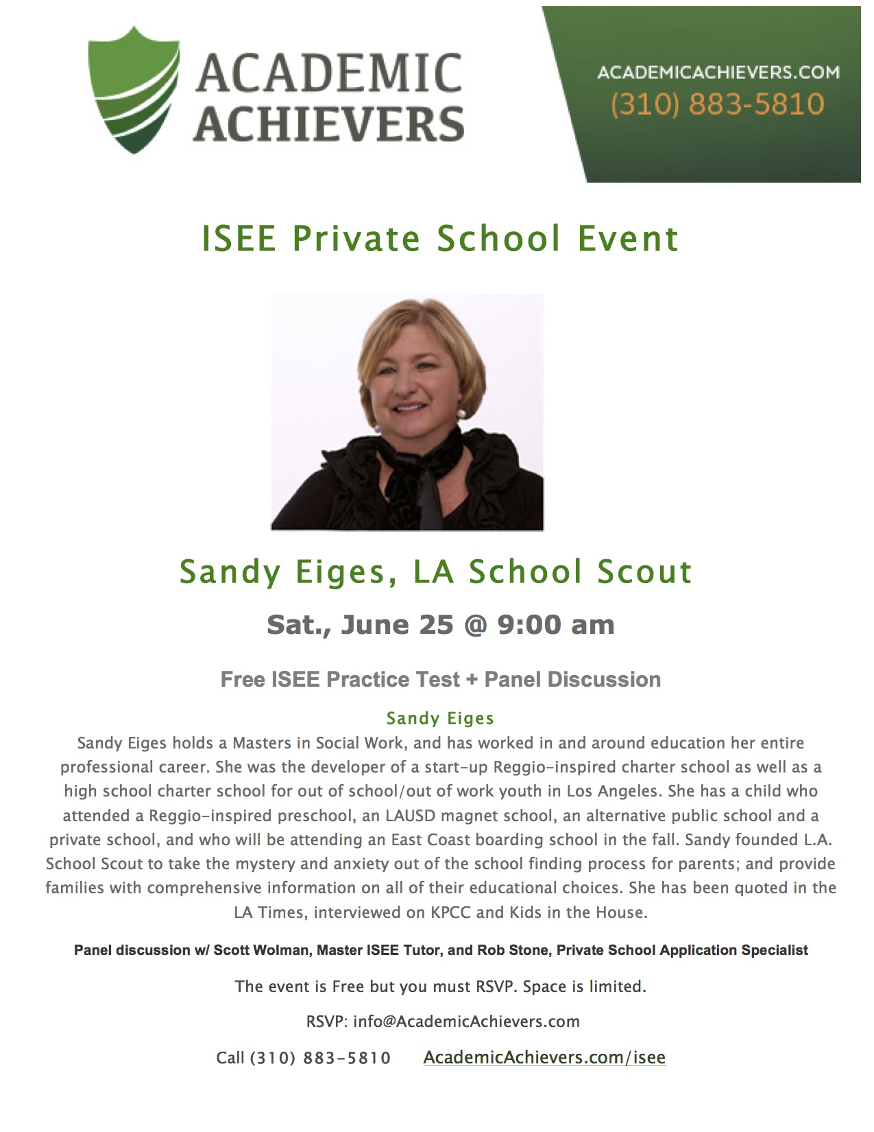 Private School Event-Sandy Eiges