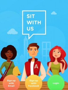SitWithUs is a new app to help kids find a place to sit at lunch so they won't have to sit alone. Genius!